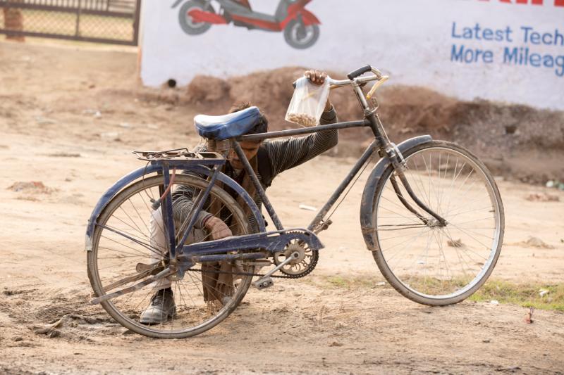 Broken bicycle, Gargaon, Haryana, India