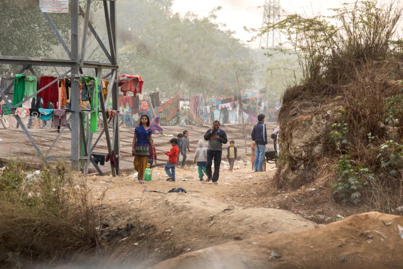 Slum life, new Delhi, India