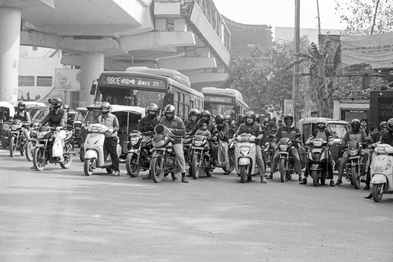 A normal road junction! New Delhi, India