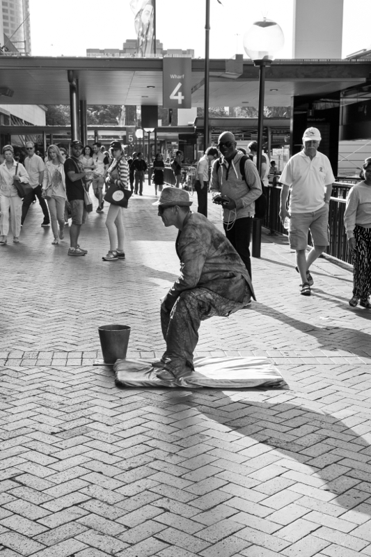 Mime artist Darling Harbour, Sydney, Australia