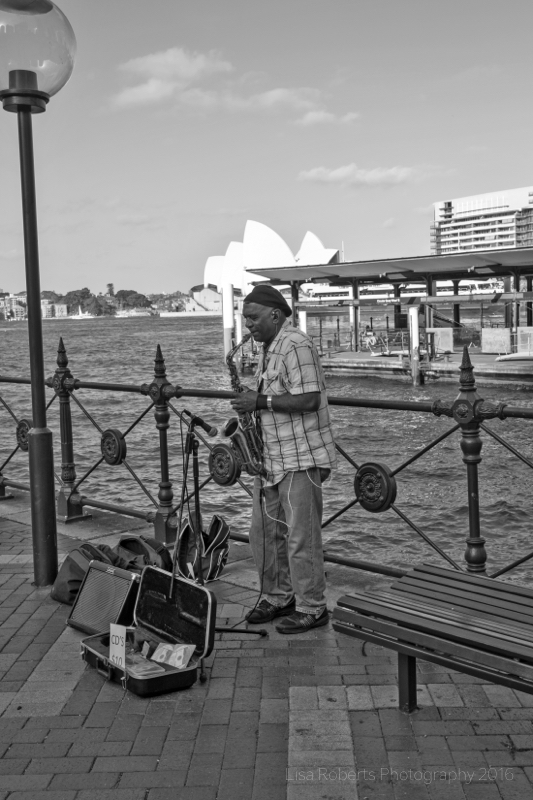 Busker, Sydney Harbour,Australia