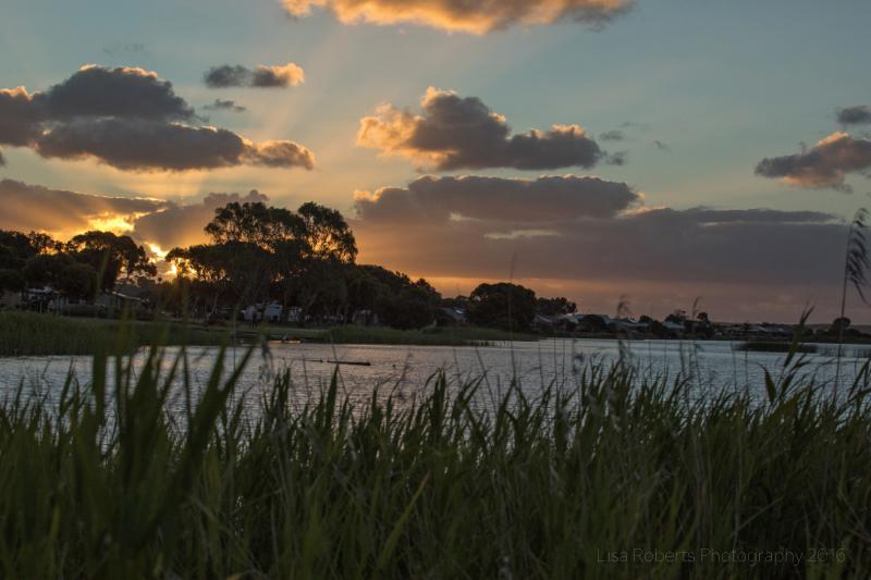 Sunset over Lake Albert, South Australia