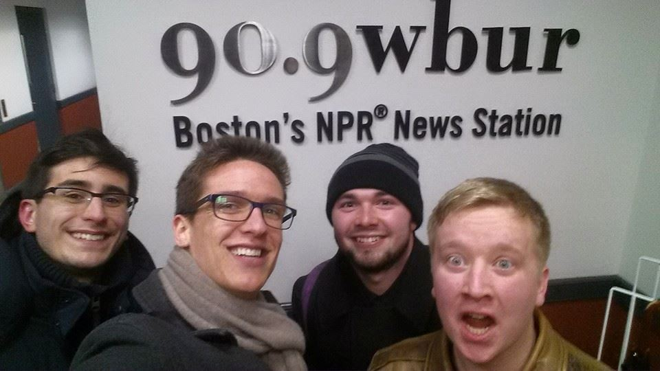 "At WBUR where we wrote and recorded a jingle for NPR's ""Here and Now"" 2016 Presidential Race segment."