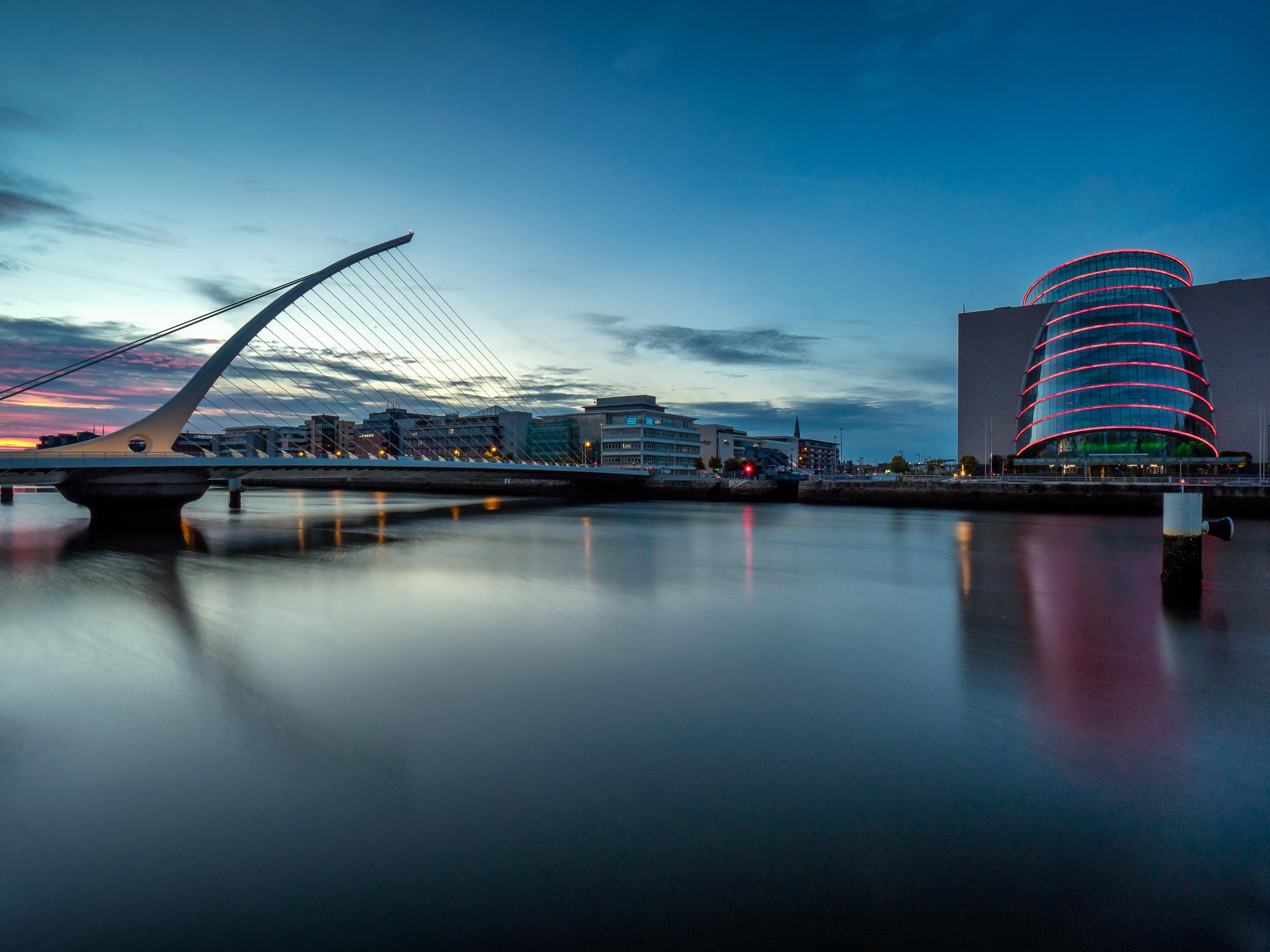 Samuel Beckett Bridge in Dublin Ireland