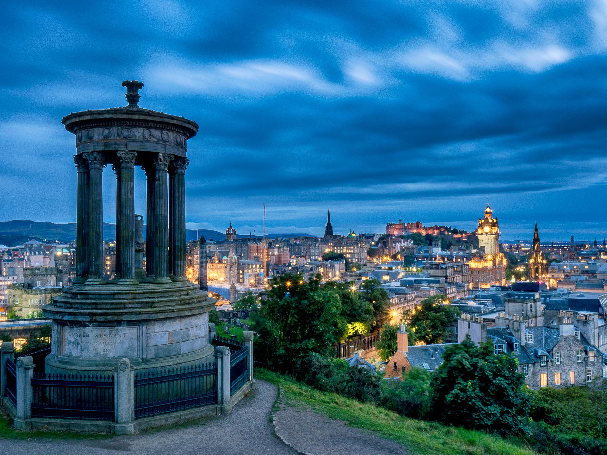 A shot of Edinburgh from Calton Hill