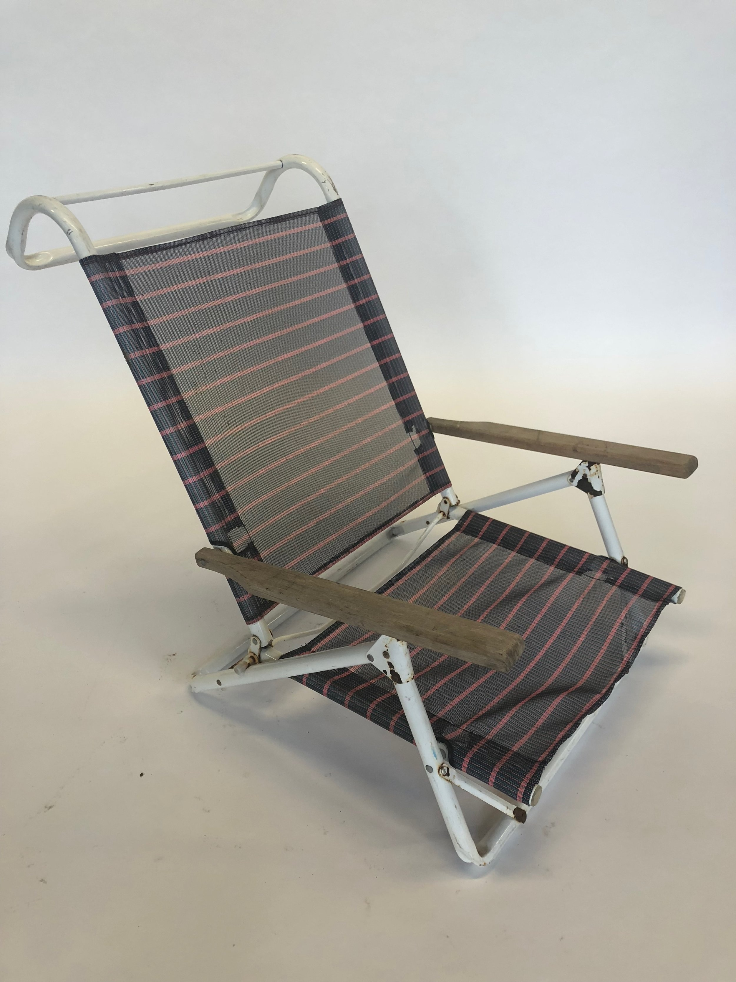 Pink And Black Folding Beach Chair