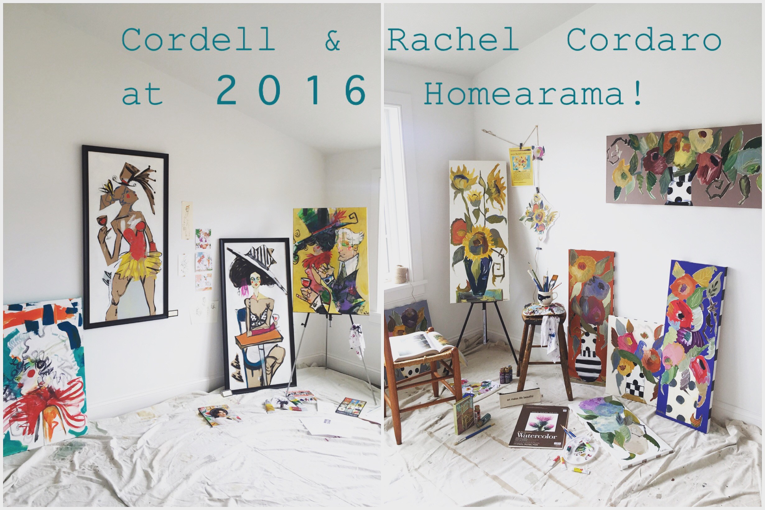 Here you can see our his and her art studio on display at 20 Aden Hill in the 2016 Homearama in Pittsford, NY