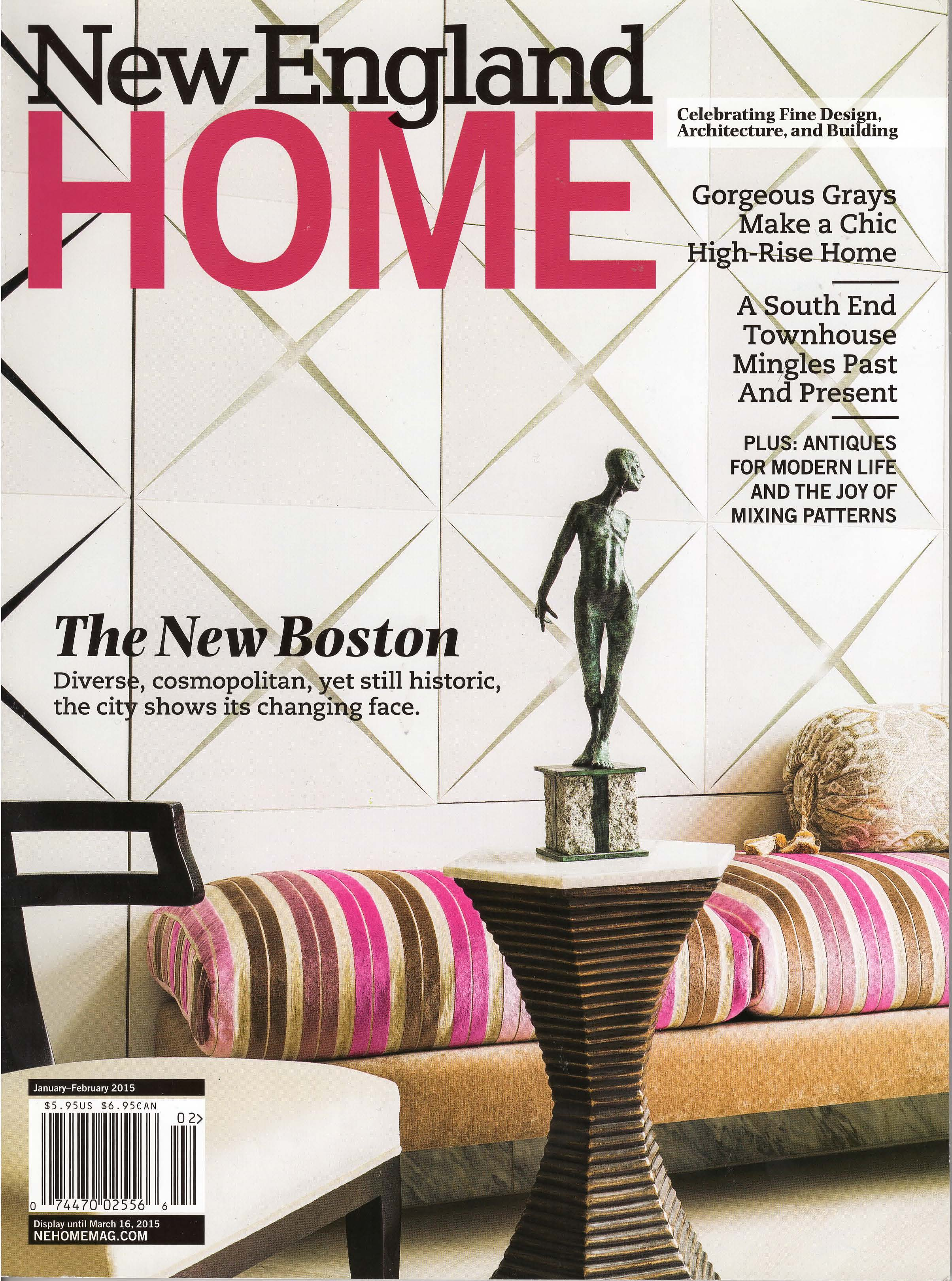 Tall Story      Jan/Feb 2015     New England Home   A colorful redo of an old South End townhouse offers glimpses of a glorious history even as it celebrates modern living.