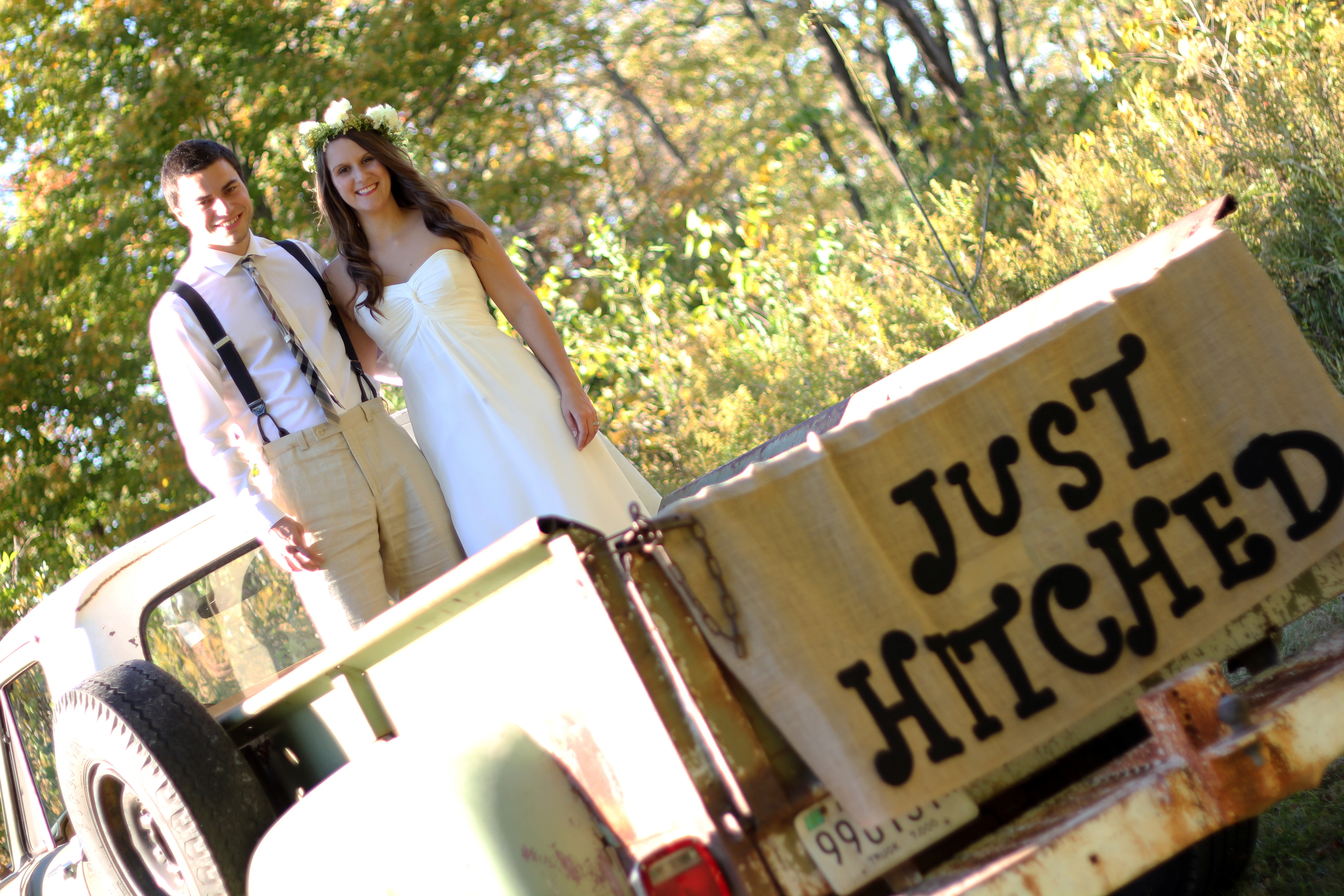 This old truck is at Bay Horse Inn and can be used for your wedding photos.