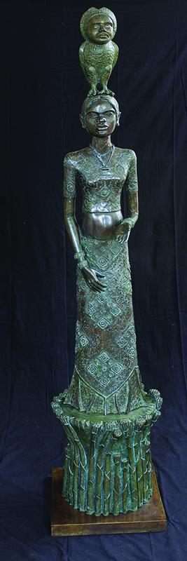 "Day | Bronze sculpture | 55"" x 20"" x 20"" | 2011"