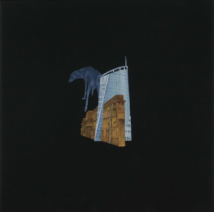 "Praneet Soi | Blue Dog | Acrylic on canvas | 12.5"" x 12.5"" | 2008"