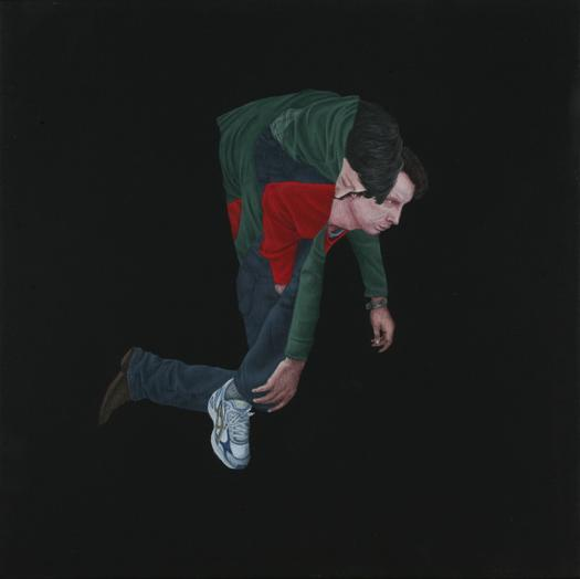 "Praneet Soi | Piggyback | Acrylic on canvas | 12.5"" x 12.5"" | 2008"