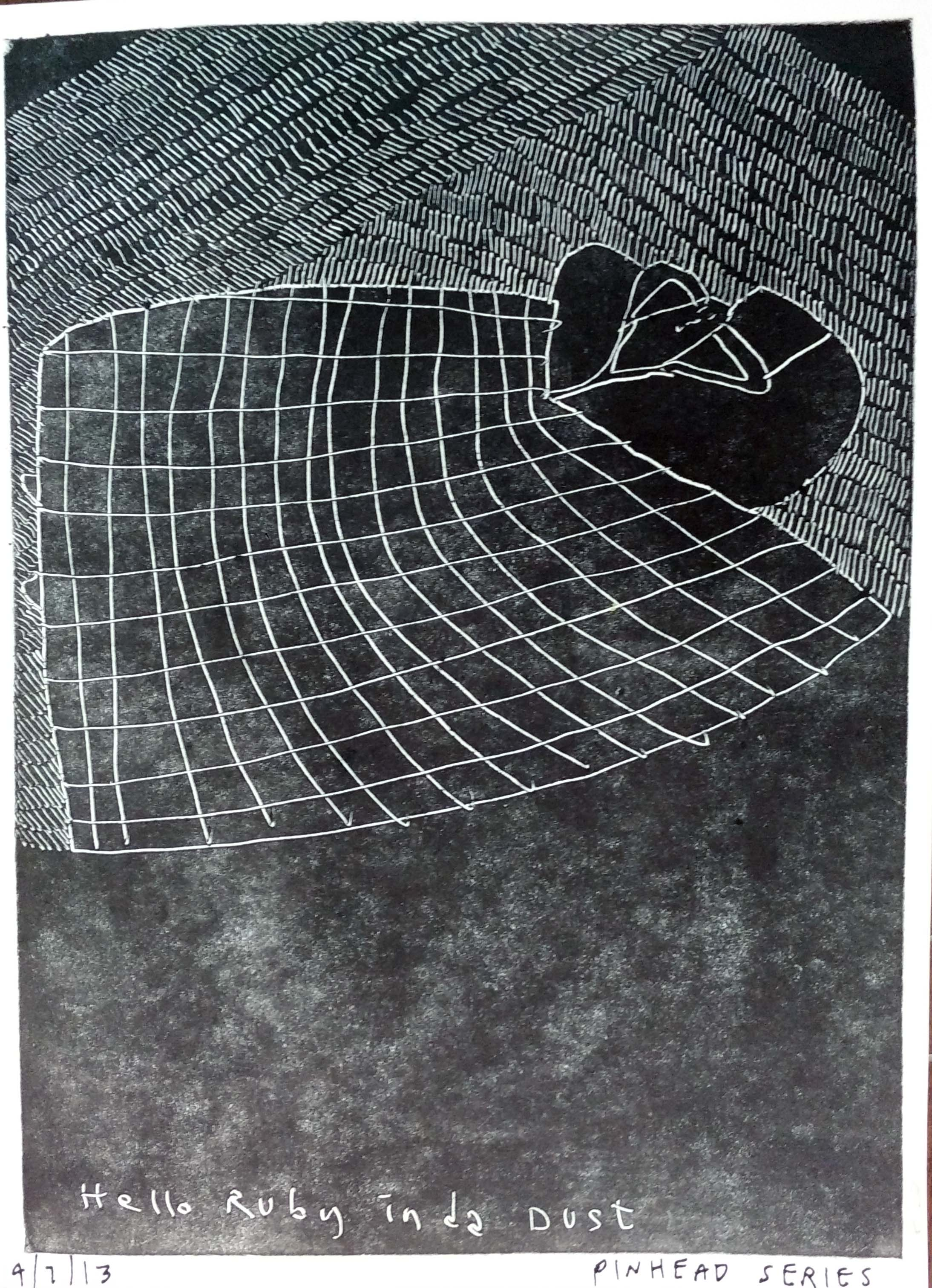 "Renuka Rajiv | Pin Head Series | Monoprint | 8.5"" x 6"" 