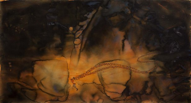 """Untitled   Watercolour on paper   41.5"""" x 79.25"""""""