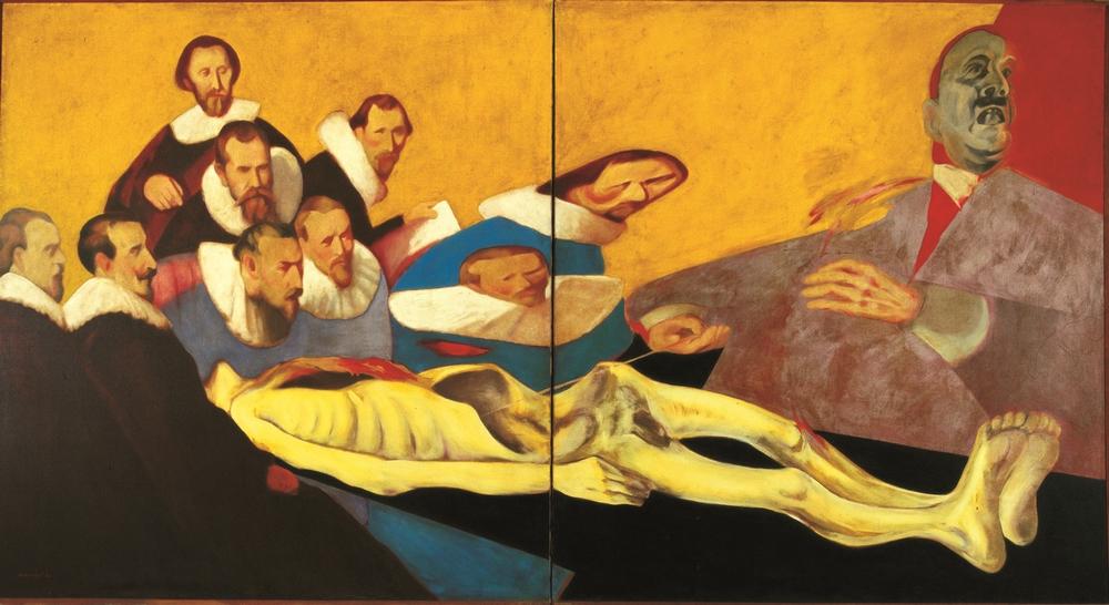 "Anatomy Lesson |  Oil on Canvas | 66"" X 132"" | 1971"