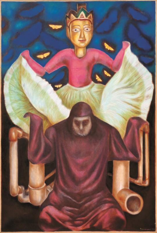 "Arabian Nights (Puppet Theatre Series) | Oil on canvas | 72"" x 48"" | 1981"