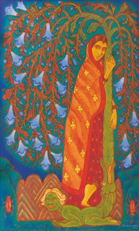 "Tree of desire | Oil on canvas | 78"" x 48"" | 2016"