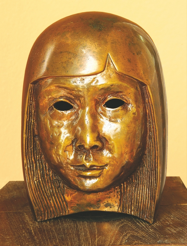"Sujata | Bronze sculpture | 8.5"" x 5.5"" x 5"" | 1985"
