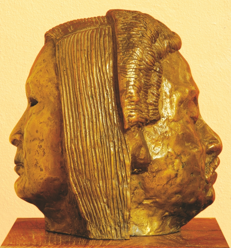 "Untitled | Bronze sculpture | 8"" x 6"" x 7"" | 1985"