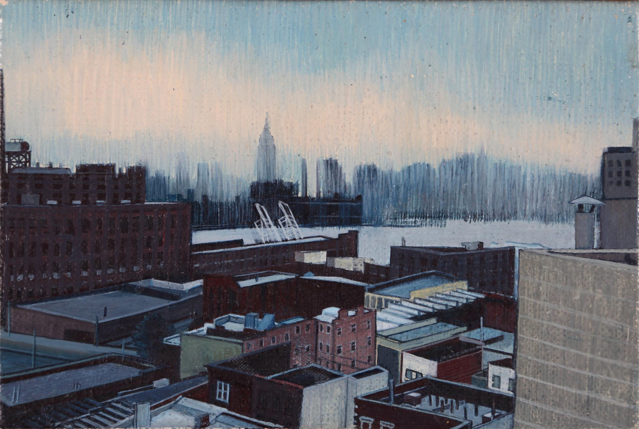 "Brooklyn | Oil on linen | 4"" x 6"" | 2016"