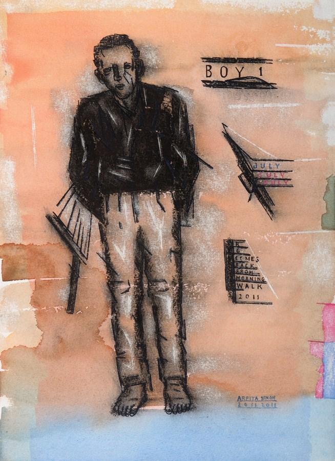 "Arpita Singh   Untitled   Watercolour on paper   14"" x 10"""