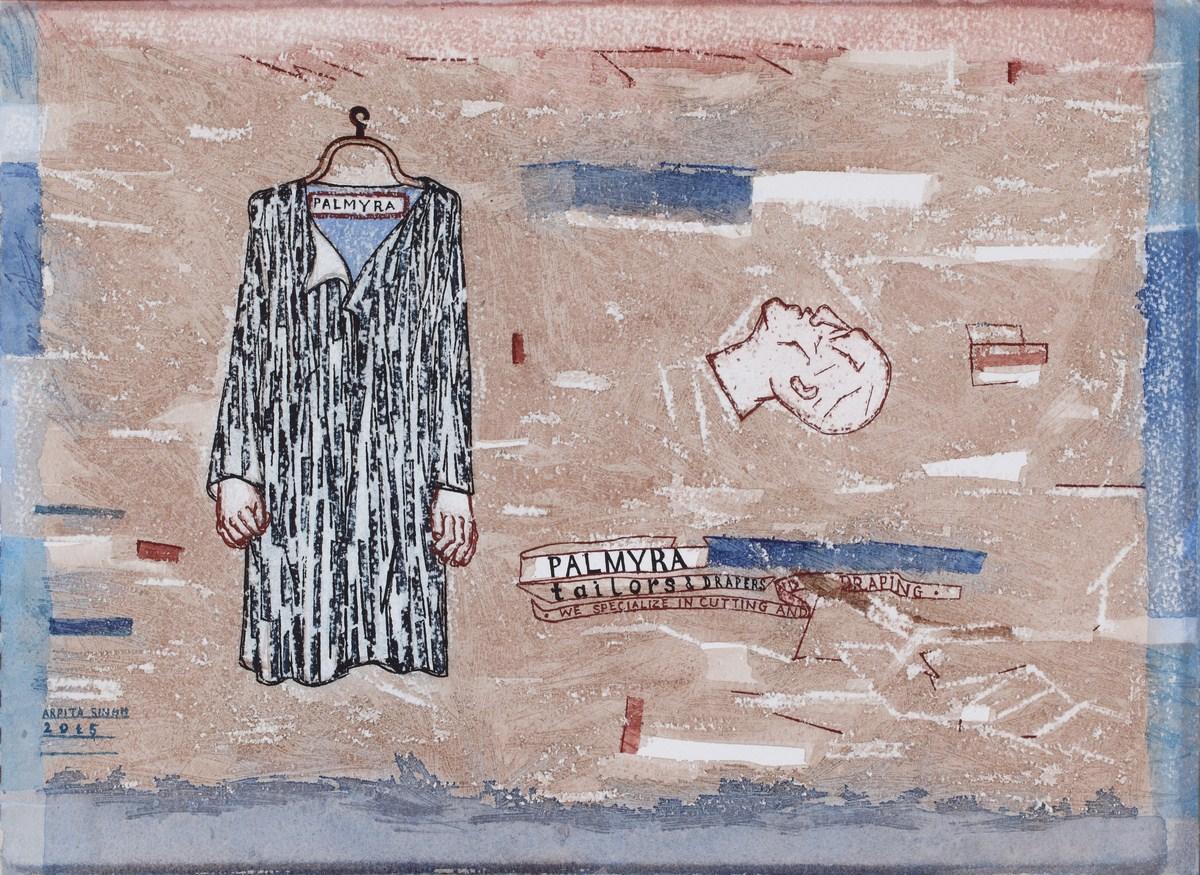 "Arpita Singh   Palmyra-tailors & Drapers Medium  : Watercolour on paper   11.5"" x 16""   2015"
