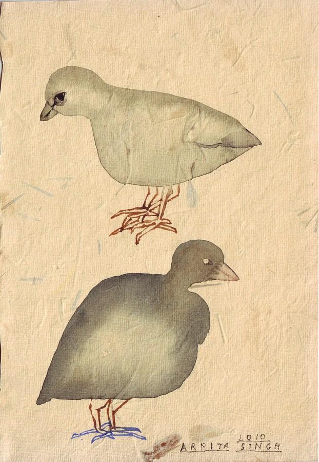 "Arpita Singh   Untitled   Watercolour on paper   8.25"" x 5.5""   2010"