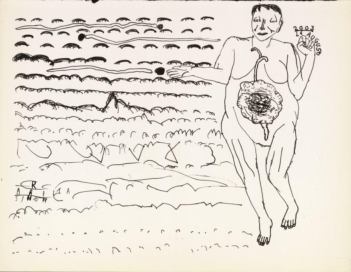 "Arpita Singh   Untitled   Ink on paper   6.5"" x 8.5""   2003"
