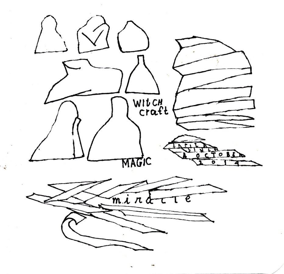 "Arpita Singh   Witch Craft Magic   Pen & Ink on paper   6"" x 6""   2014"
