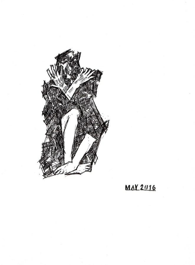 "Arpita Singh   Untitled   Drawing on paper   11"" x 8.5""   2016"
