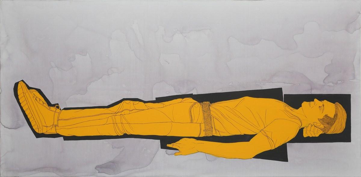 "Victor Sebastian | Acrylic on canvas | 39.5"" x 78.5"" | 2016"