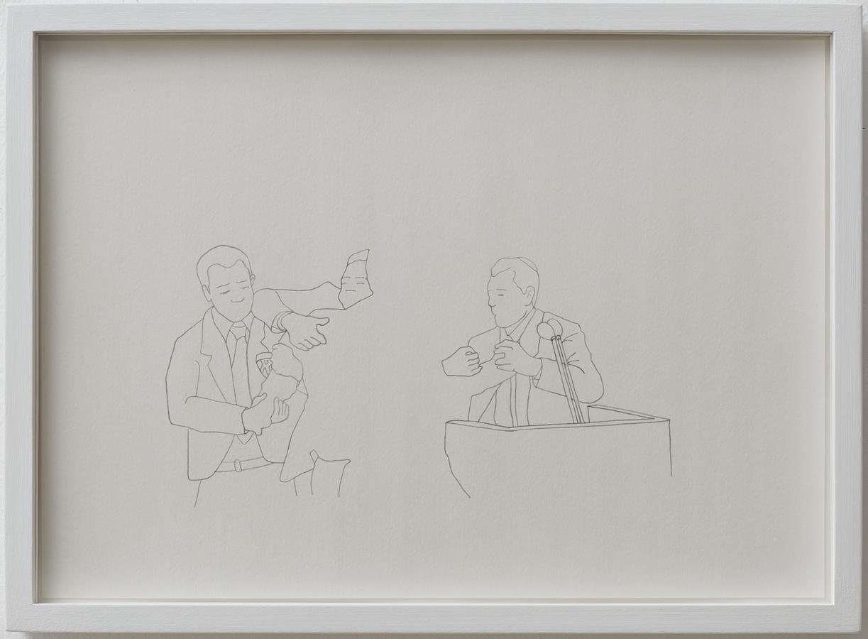"Shilpa Gupta   Untitled   Tracings - pencil on paper   8.3"" x 11.7""   2016"