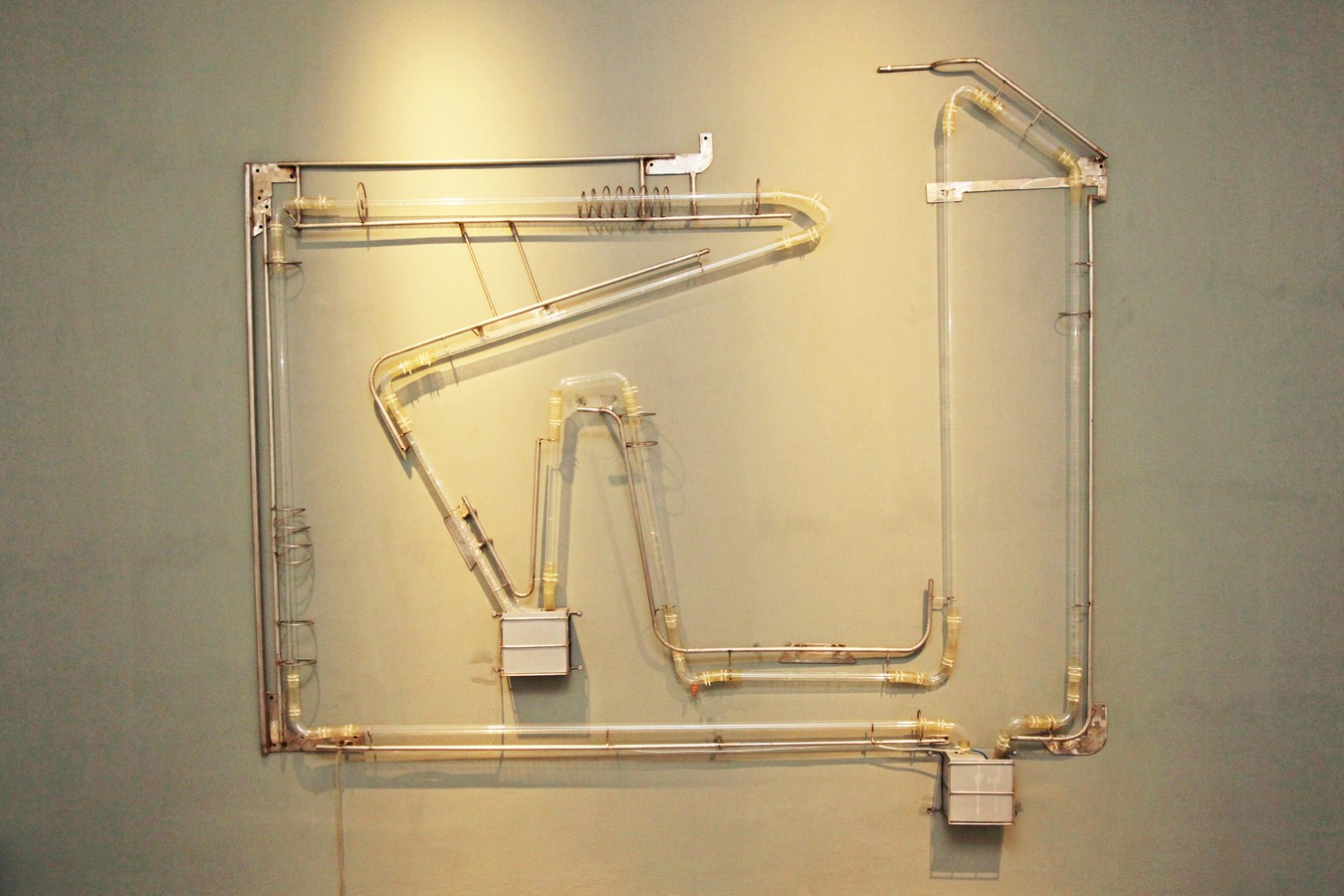 Susanta Mandal | How long does it take to complete a circle? | Glass, steel, air pump, soap solution & timer | Variable | 2011