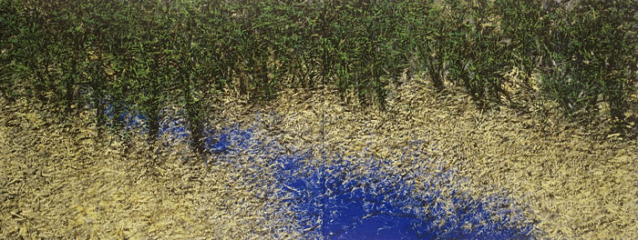 "Paramjit Singh | Untitled (Diptych) | Oil on canvas | 36"" x 96"" 