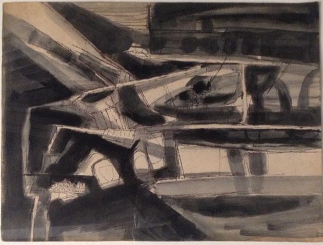 "Ram Kumar   Untitled   Acrylic on paper   11"" x 14"""