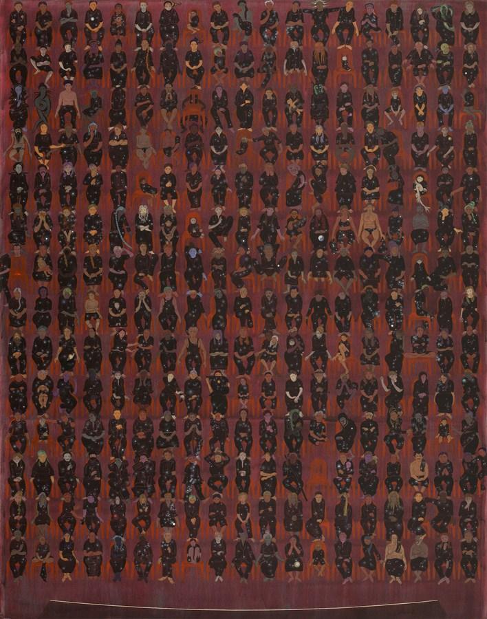 "NS Harsha | Depth of Audience | Acrylic on canvas | 74.5"" x 59.5"" | 2017"