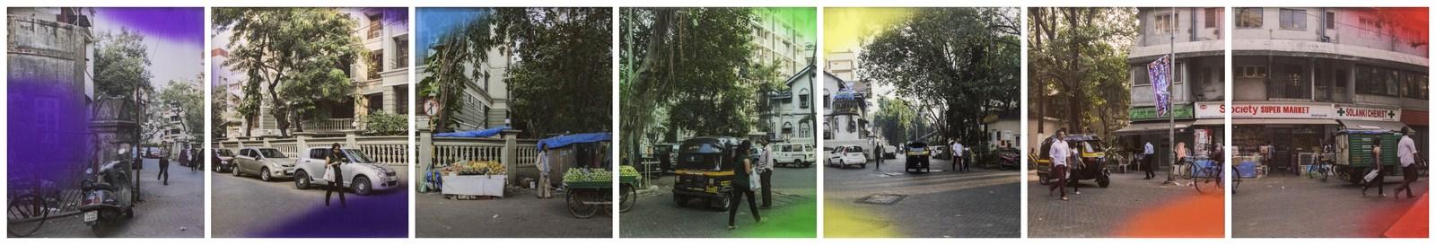 "Jitish Kallat | Event Horizon | Lenticular prints | 44"" x 38.25"" (Each) | 2014 | Set of 7"