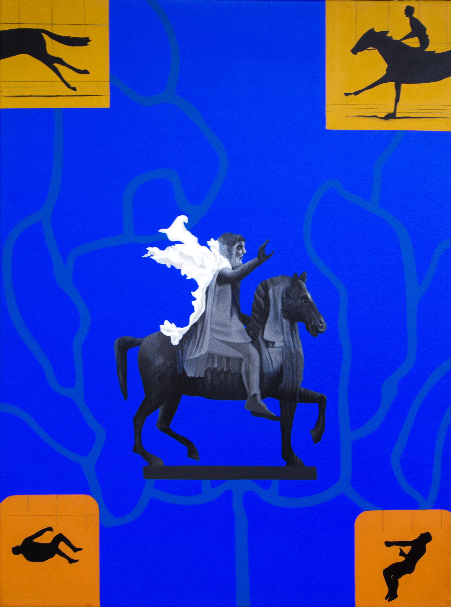 Babu Eshwar Prasad | Galloping Frames | Acrylic on canvas | 18 x 24 inches | 2017