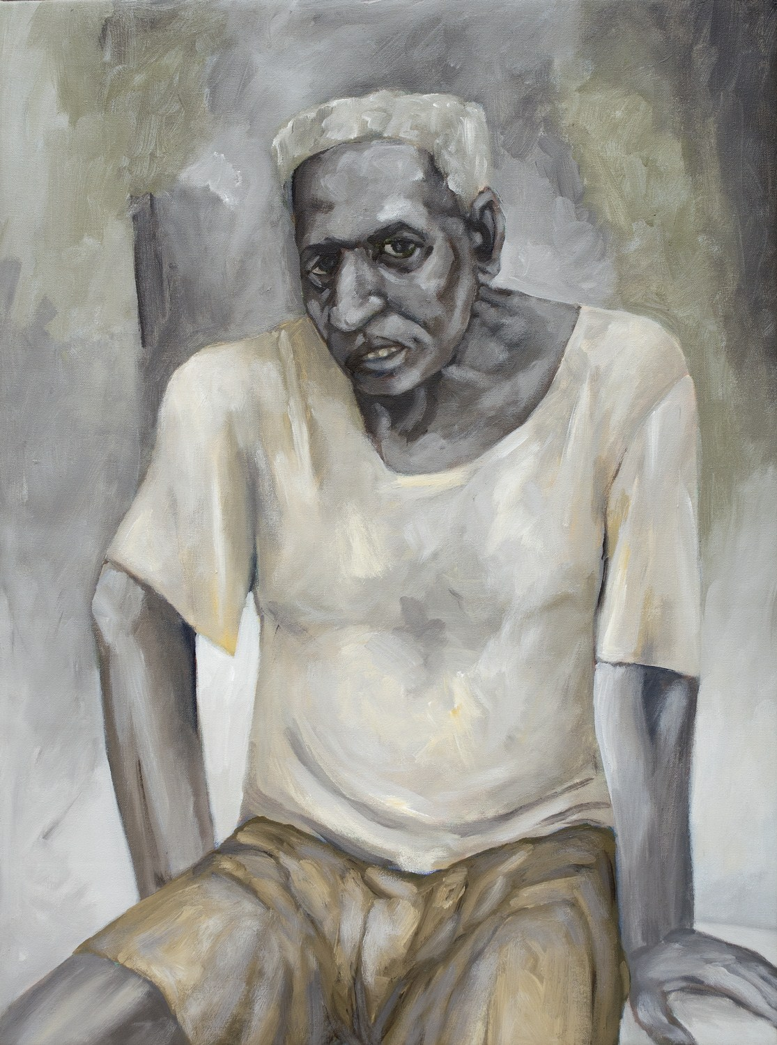 "Man from Lower Parel | Acrylic on canvas  | 30"" x 22"" 