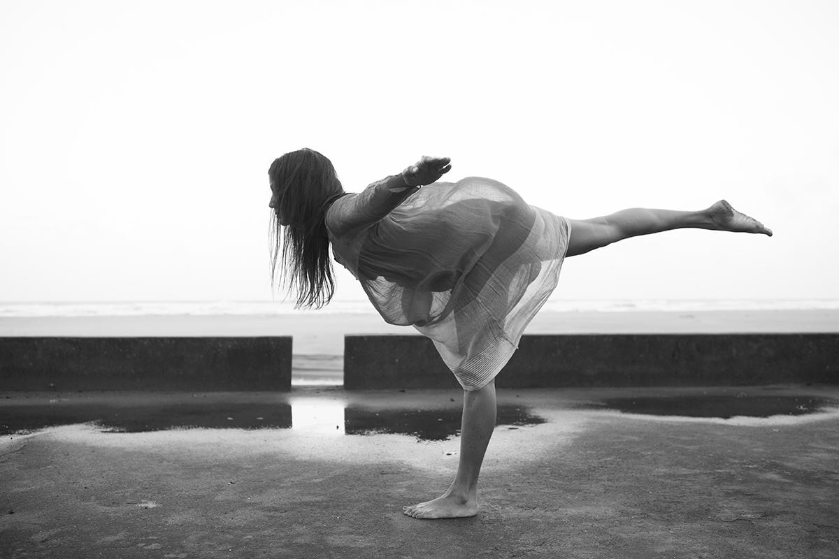 "Sharmila Desai practicing Ashtanga Yoga Ashvem beach | Archival Pigment Ink on Hahnemühle FineArt Photo Rag Paper | 11"" x 16.5""  | 2015"