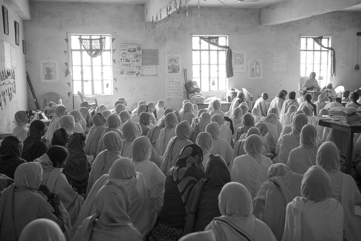 "Swetamber Jain's daily discourse,  Uttar Pradesh | Archival Pigment Ink on Hahnemühle FineArt Photo Rag Paper | 28""  x 42"" | 2016"