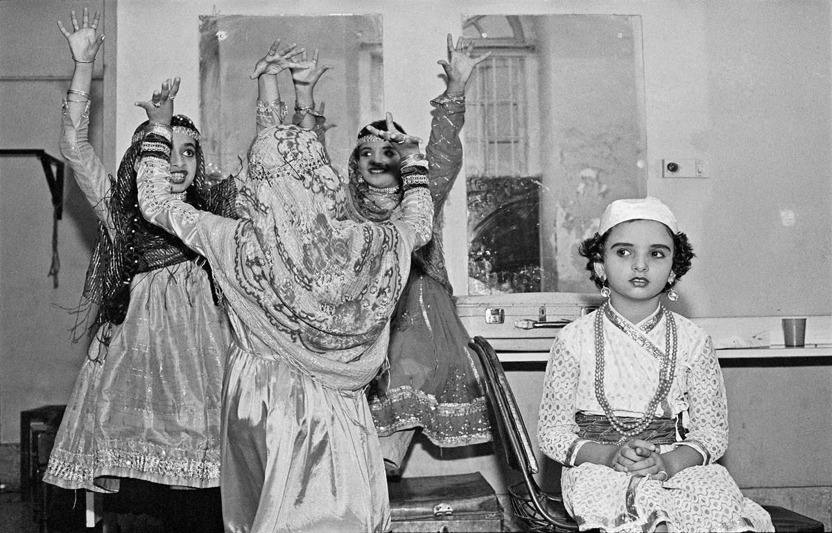 "Backstage at Tejpal Auditorium Bombay 1986 | Archival pigment print | 16"" x 23"""