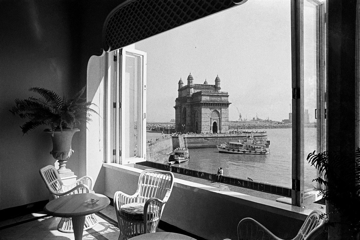 """The Gateway of India from the Taj Mahal Hotel Bombay 1977 