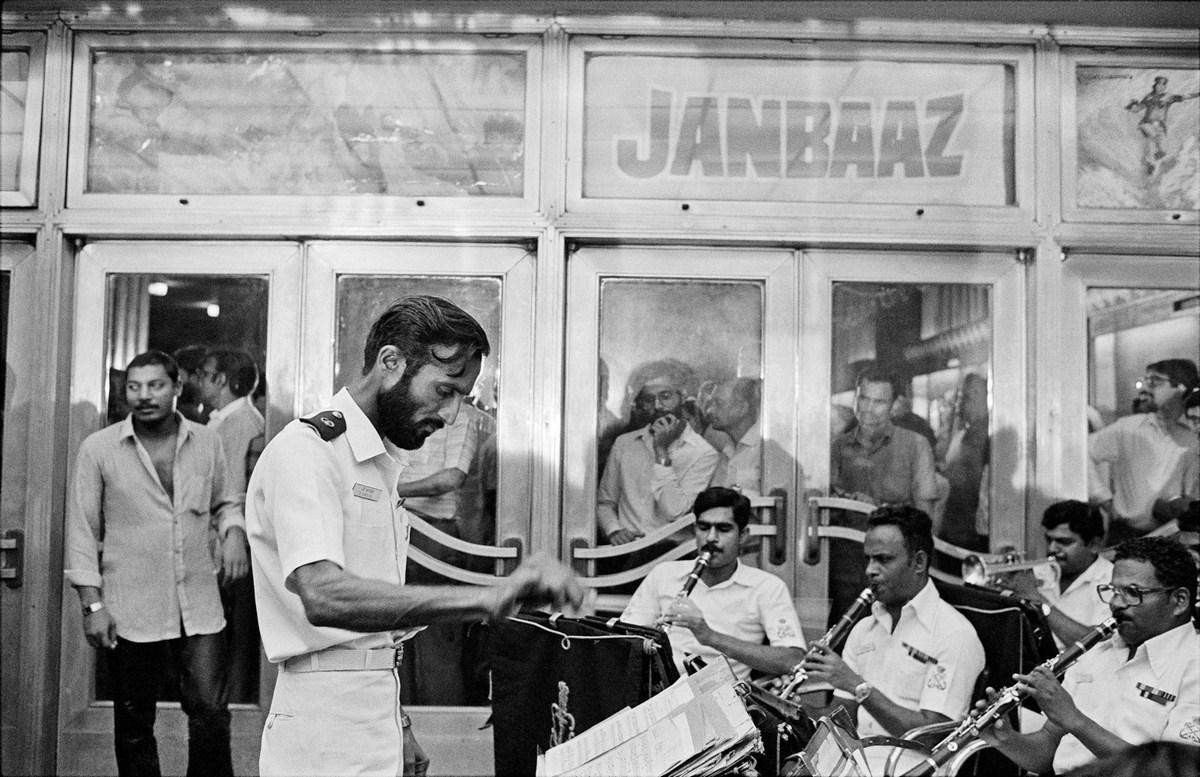 "Navy Band, Janbaaz premiere, Metro Cinema Bombay 1986 | Archival pigment print | 24"" x 35"""