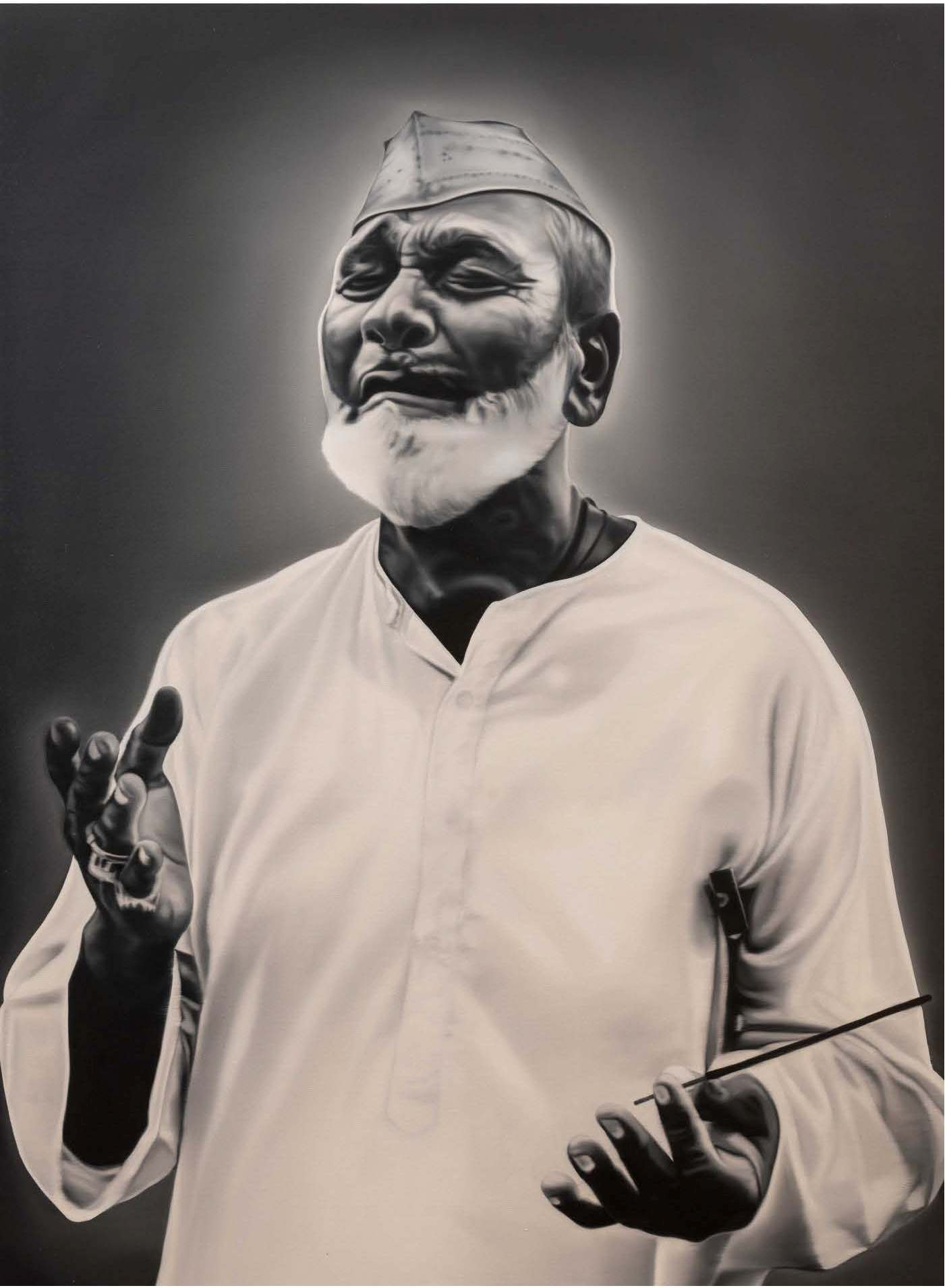 "Bismillah Khan - Benaras | Oil on canvas | 72"" x 54"" 