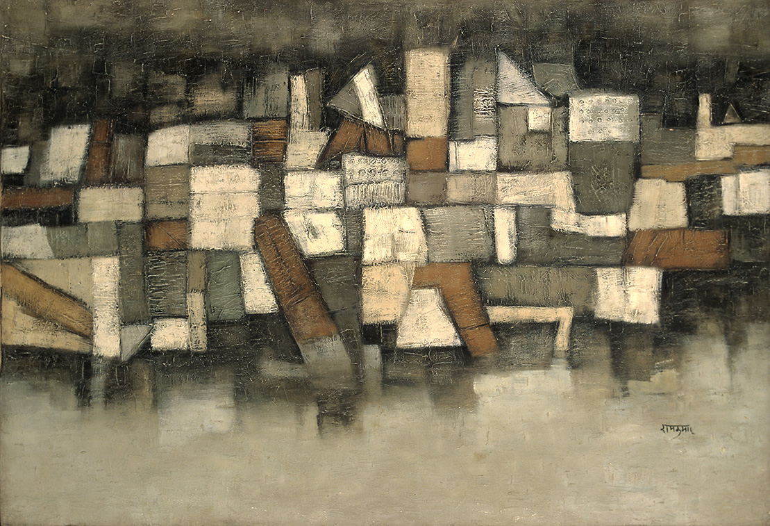 "Ram Kumar | Untitled (Benares) | Oil on canvas | 31"" x 45.5"""