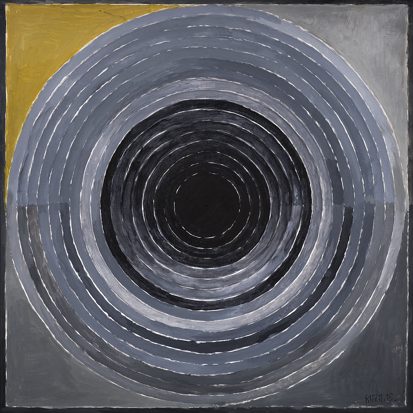 "S.H. Raza | Sanlaap | Acrylic on canvas | 39.5"" x 39.5""  