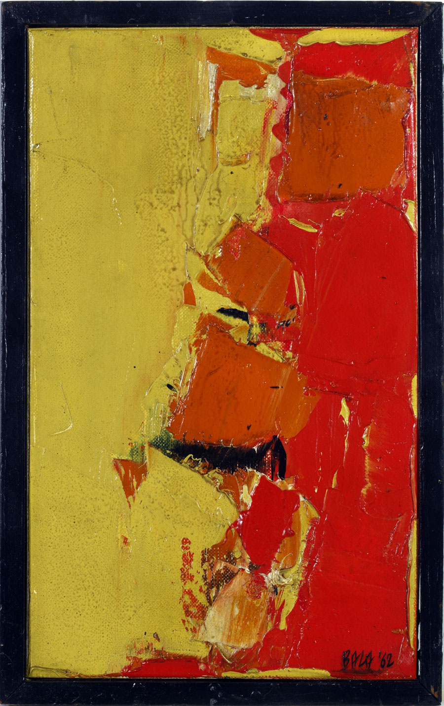 "S.H. Raza | Chott | Oil on canvas | 10.5"" x 6.5"" 