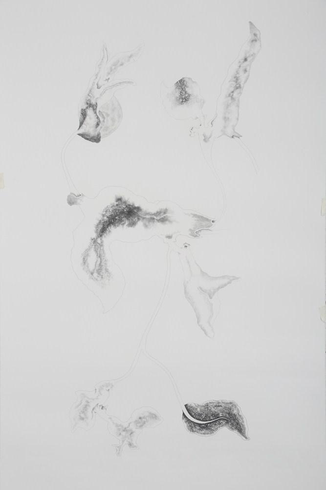 "Apnavi Makanji | Untitled | Graphite on arches paper | 79"" x 45"" | 2018"