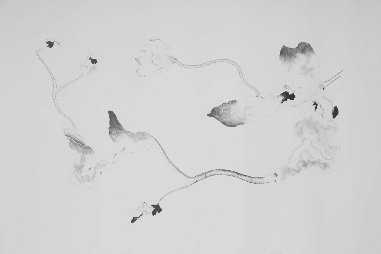 "Apnavi Makanji | Untitled | Graphite on arches paper | 45"" x 79"" | 2018"